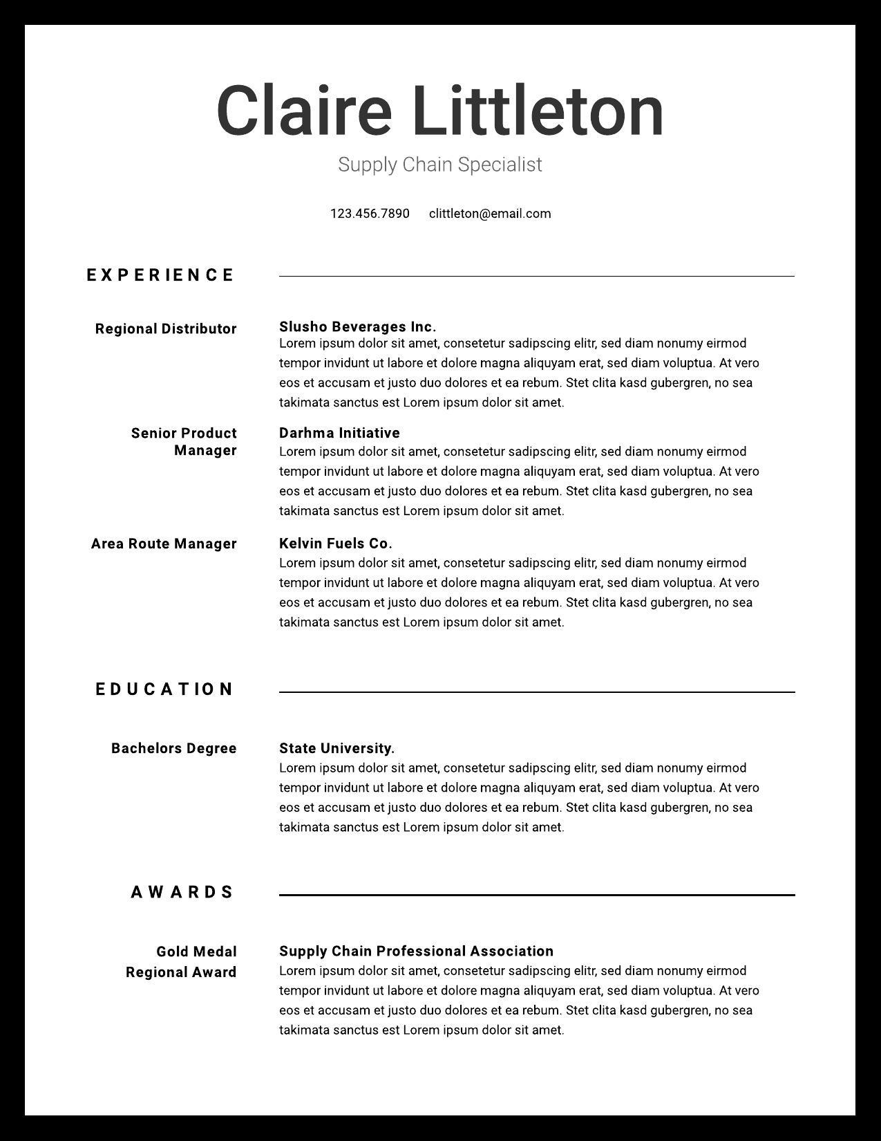 resume examples writing tips for lucidpress experience ideas image09 problem solve first Resume Experience Ideas For Resume