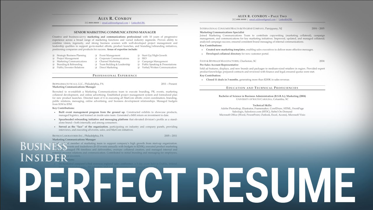 résumé expert reveals perfect looks like tips for creating the best possible resume Resume Tips For Creating The Best Possible Resume