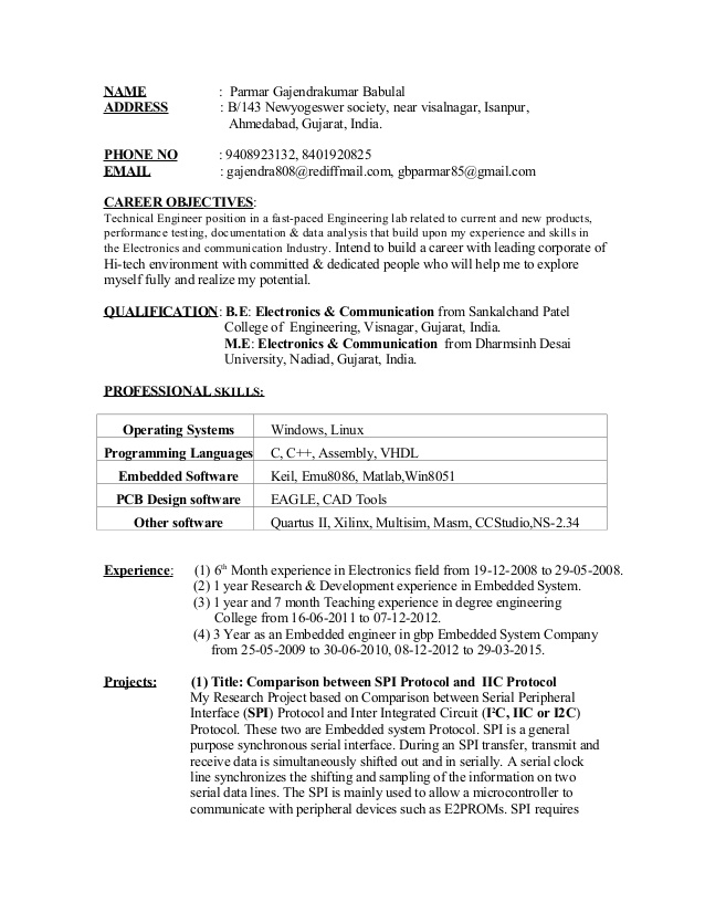 resume for embedded engineer systems engineer1 quick learner high school student Resume Embedded Systems Resume