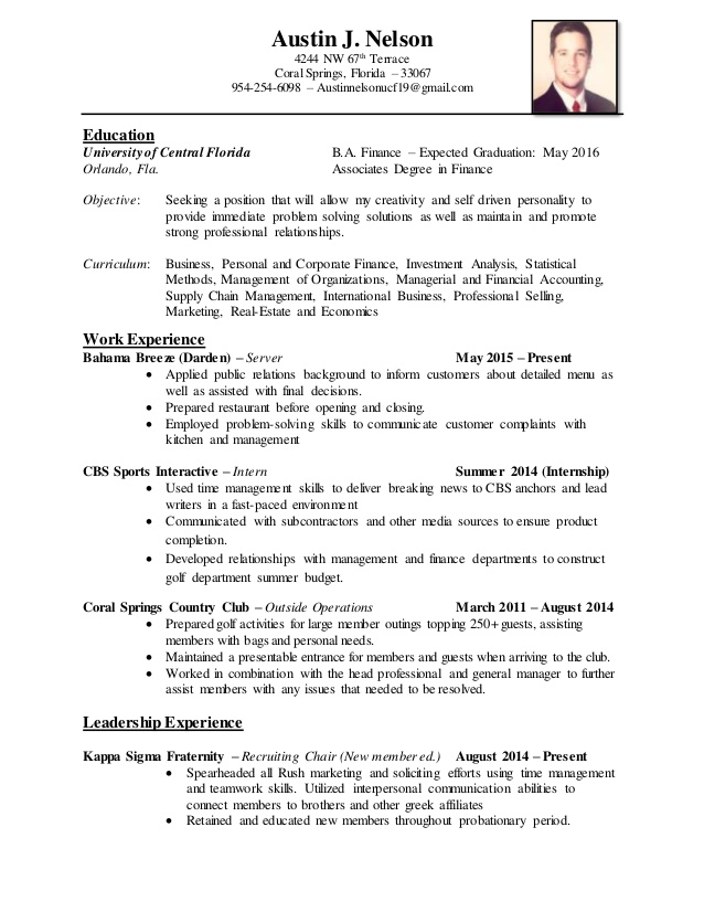 resume for fraternity senior education consultant college graduate cricket coach format Resume Resume For Fraternity Rush