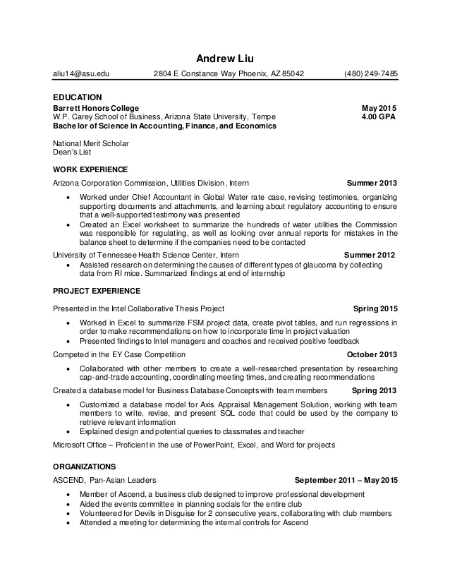 resume for honors college the best free template objective project manager elegant sample Resume Resume For Honors College