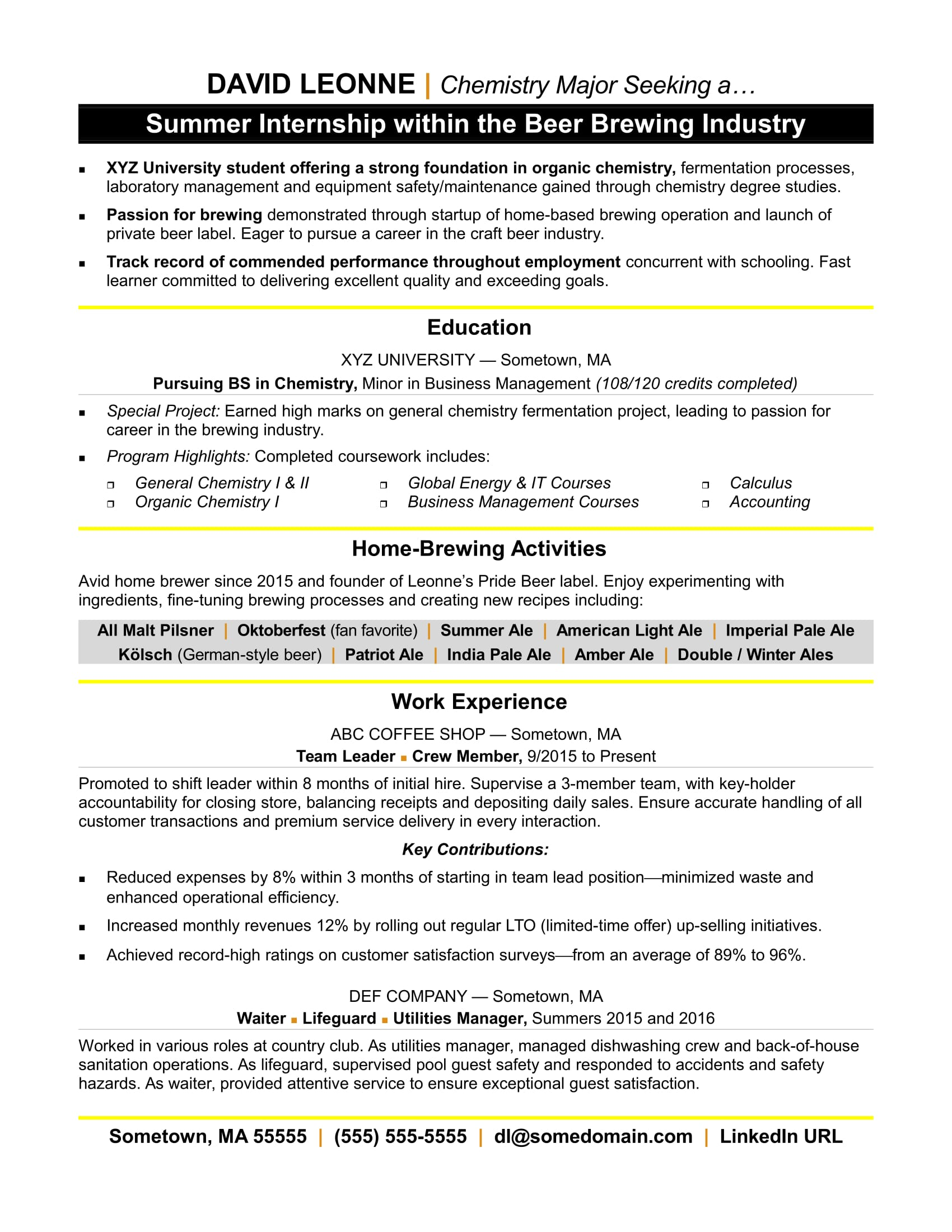 resume for internship monster college student sample import export executive entry level Resume College Student Sample Resume For Internship