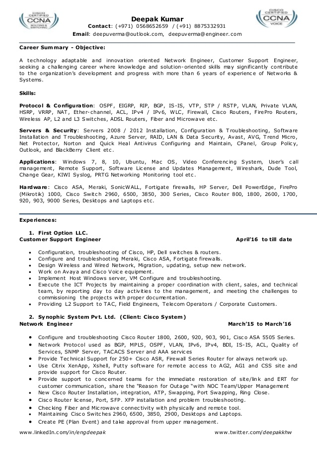 resume for network engineer l2 admin team leader system firewall experience free building Resume Firewall Experience Resume