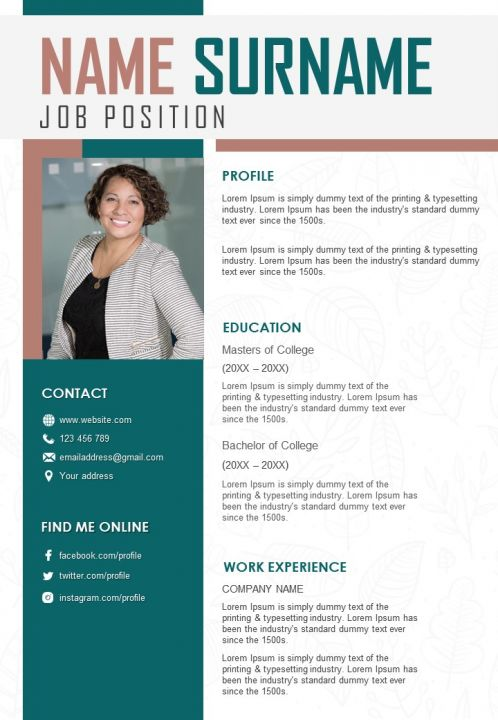 resume format example with contact details presentation graphics powerpoint slide Resume Contact Details On Resume