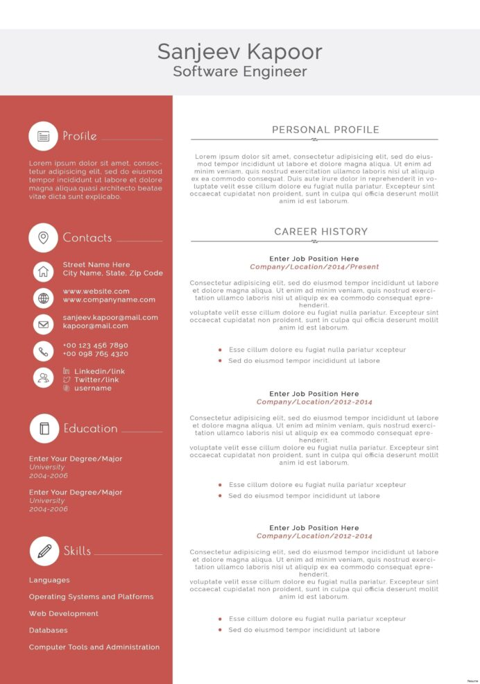 resume format for experienced software engineer stunning template example disney play Resume Resume Software Download