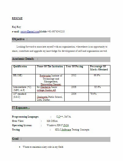 resume format for freshers engineers of computer science dental vantage dinh vo btech cse Resume Resume For Btech Cse Student Fresher
