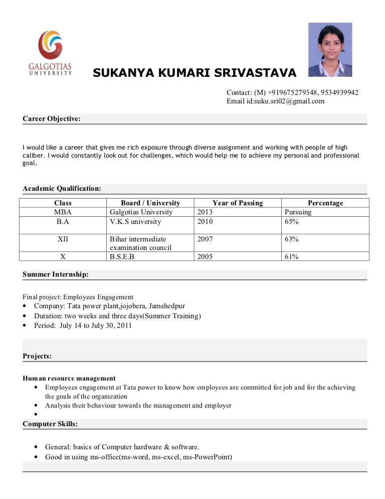 resume format for mba freshers free interview mbaresumeformat phpapp01 thumbnail Resume Resume For Mba Interview