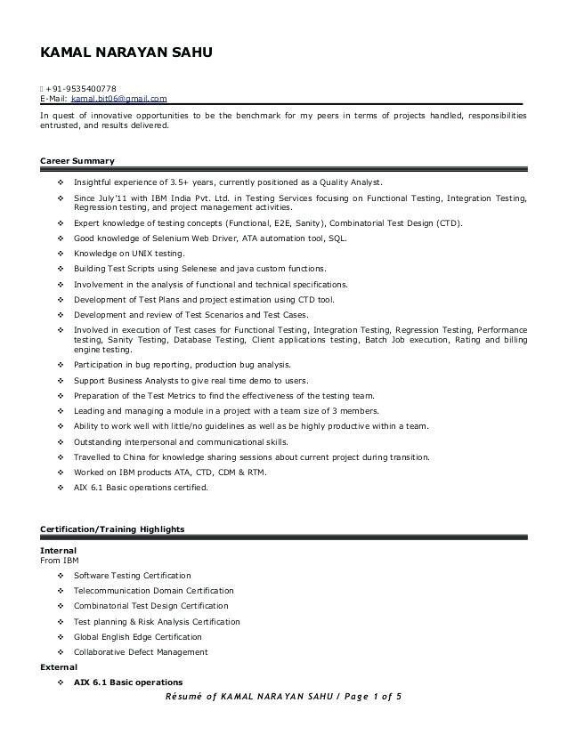 resume format for years experience in testing manual sample responsibilities ats friendly Resume Manual Testing Responsibilities Resume