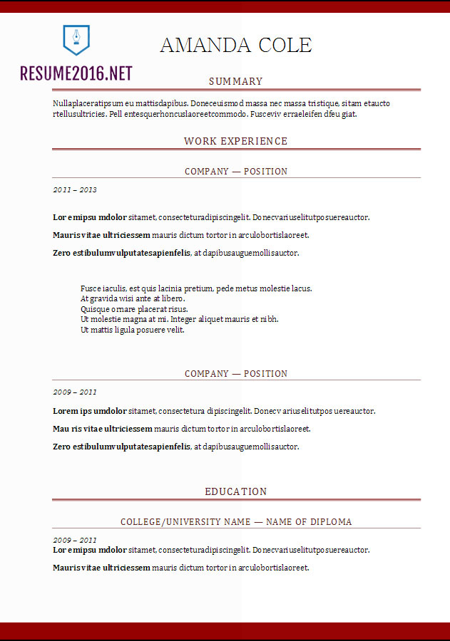 resume format free word templates does matter example critical thinking character traits Resume Does Resume Format Matter