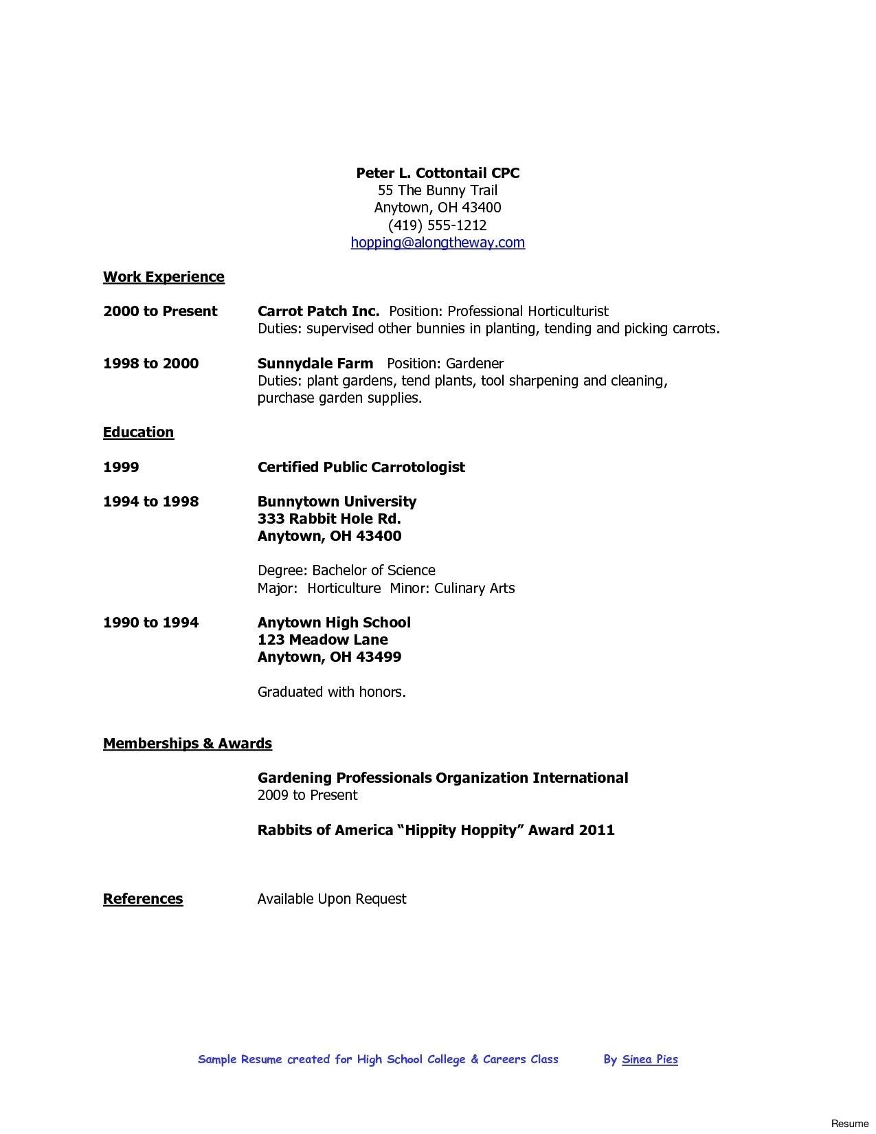 resume format high school graduate college template job samples examples outline for Resume Job Resume Outline For High School Students
