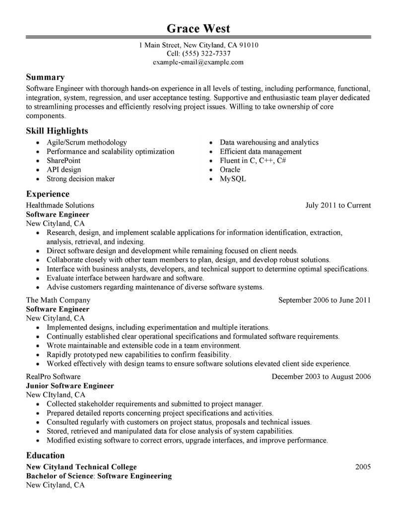 resume format software engineer engineering templates examples appian developer labor and Resume Appian Developer Resume
