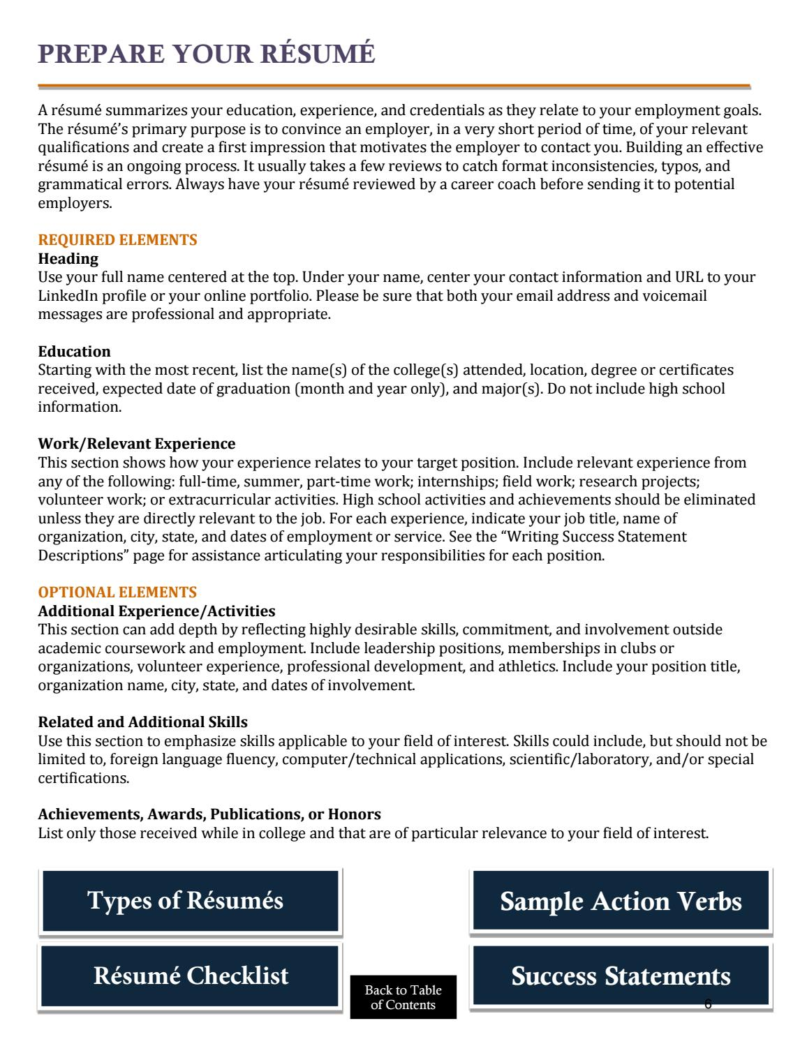 résumé guide by acu career center issuu additional experience on resume machine builder Resume Additional Experience On Resume