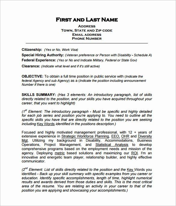 resume in paragraph form elegant federal template free word excel pdf format job examples Resume Skills Paragraph For Resume