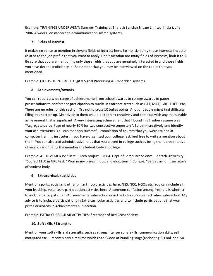 resume interests section activities and the ultimate guide for freshers entry level Resume Activities And Interests Resume