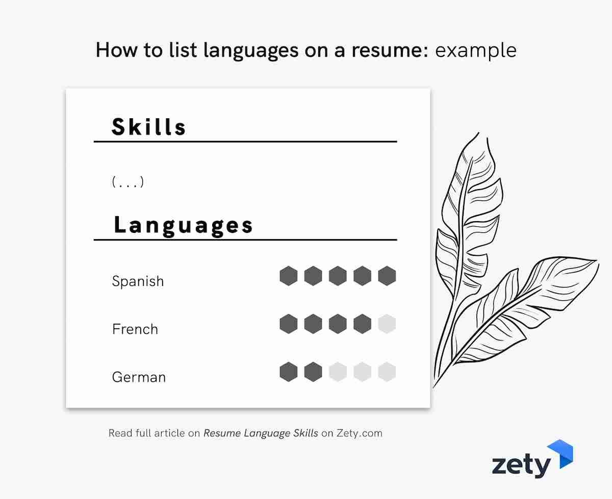 resume language skills with proficiency fluency levels describing on to languages example Resume Describing Language Skills On Resume
