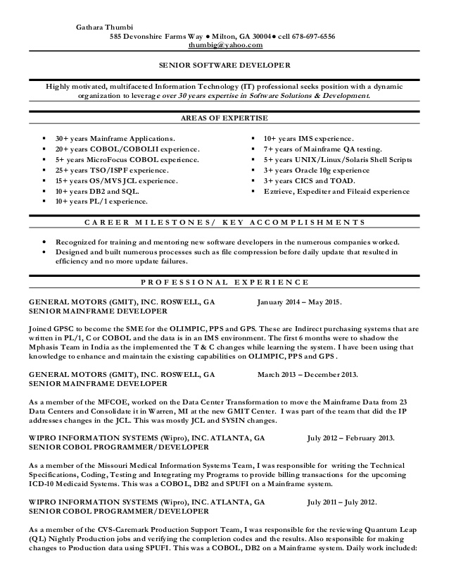 resume mainframe testing examples sag data science engineer house cleaning sample client Resume Mainframe Testing Resume Examples