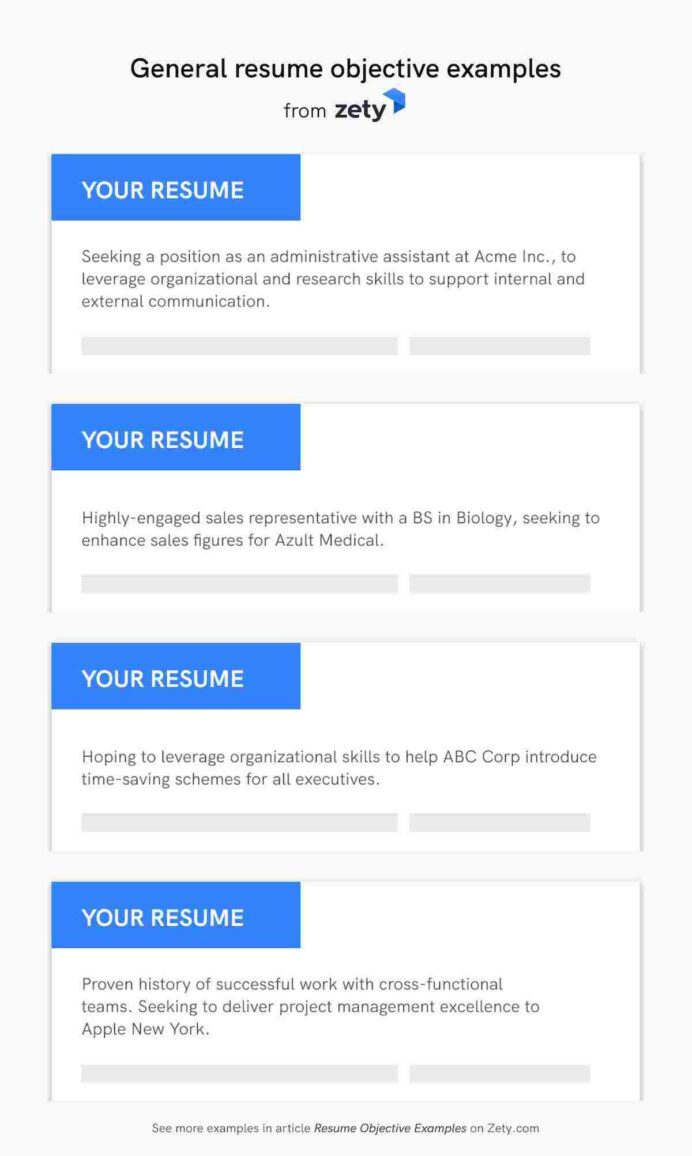 resume objective examples career objectives for all jobs summary or general interior Resume Summary Or Objective For Resume