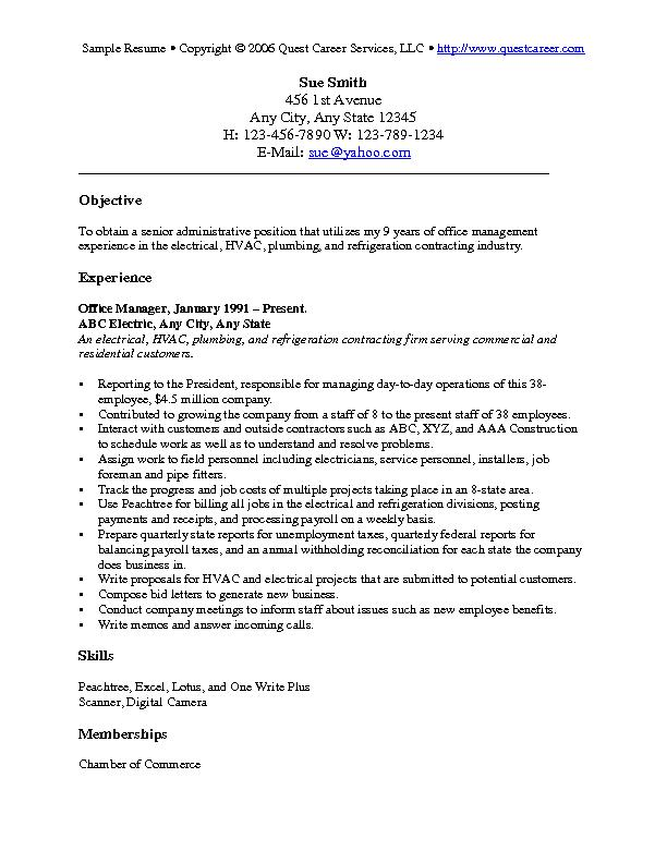 resume objective examples cv for any type of job infographic topresume expert computer Resume Resume Objective For Any Type Of Job