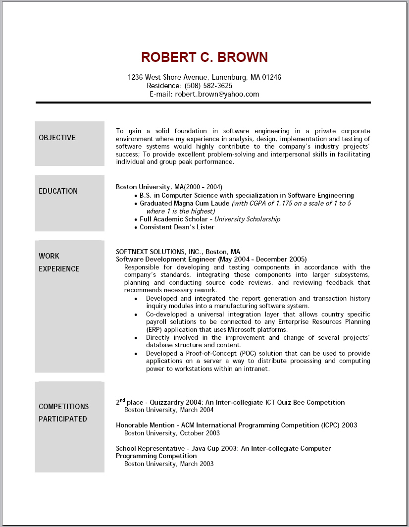 resume objective examples for customer service computer entry level retail oracle soa Resume Computer Resume Objective