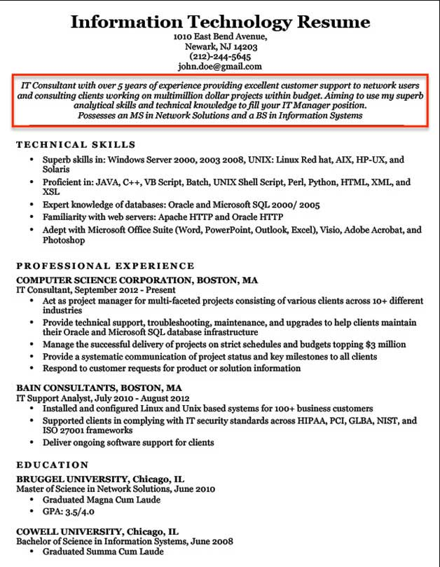resume objective examples for students and professionals any type of job information Resume Resume Objective For Any Type Of Job