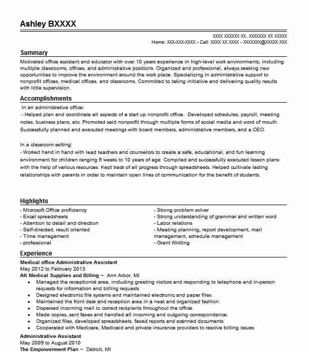 resume objective for medical office assistant write essay an administrative customer Resume Resume Objective For An Administrative Assistant
