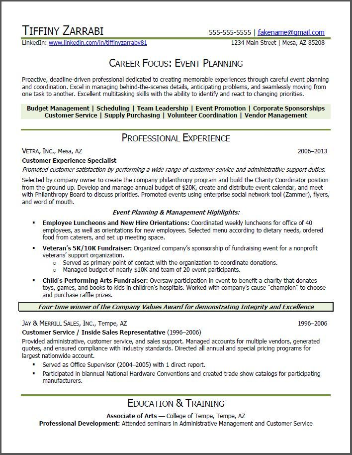resume sample for career transition resumesdesign event planner planning change samples Resume Transition Resume Samples