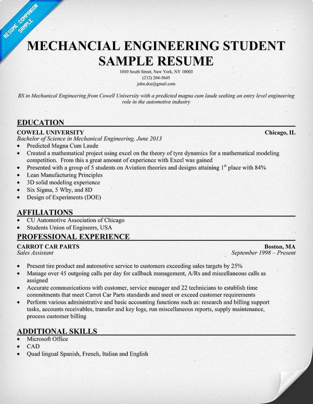 resume samples and to write companion engineering templates mechanical engineer student Resume Mechanical Engineering Student Resume Examples