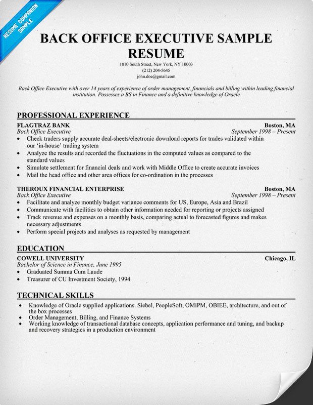 resume samples and to write companion examples job objective for back office microsoft Resume Resume For Back Office Job