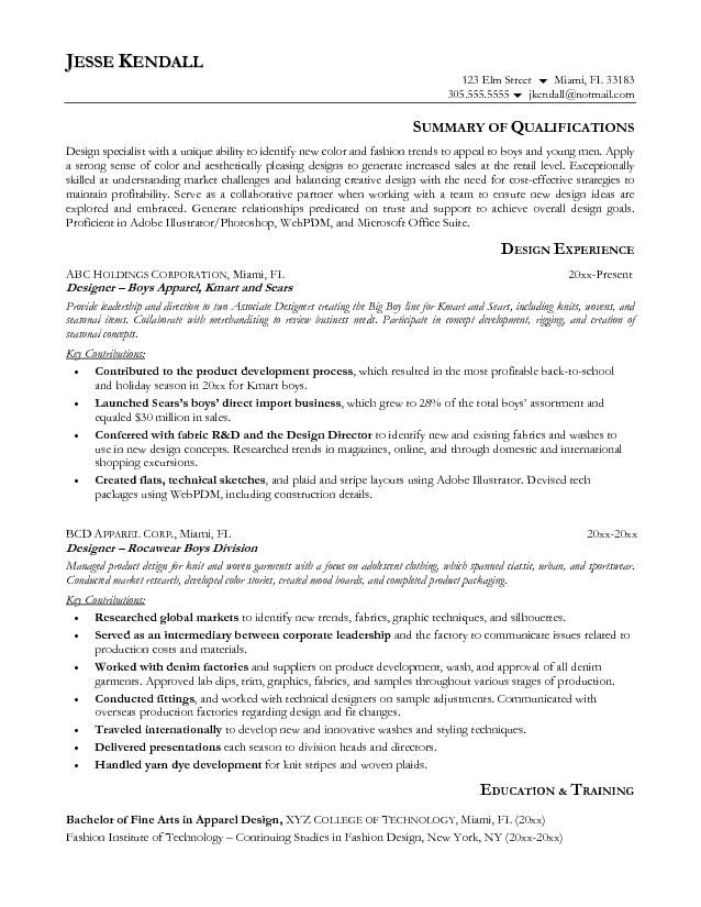 resume samples and to write companion fashion designer design career objective for Resume Objective For Fashion Designer Resume
