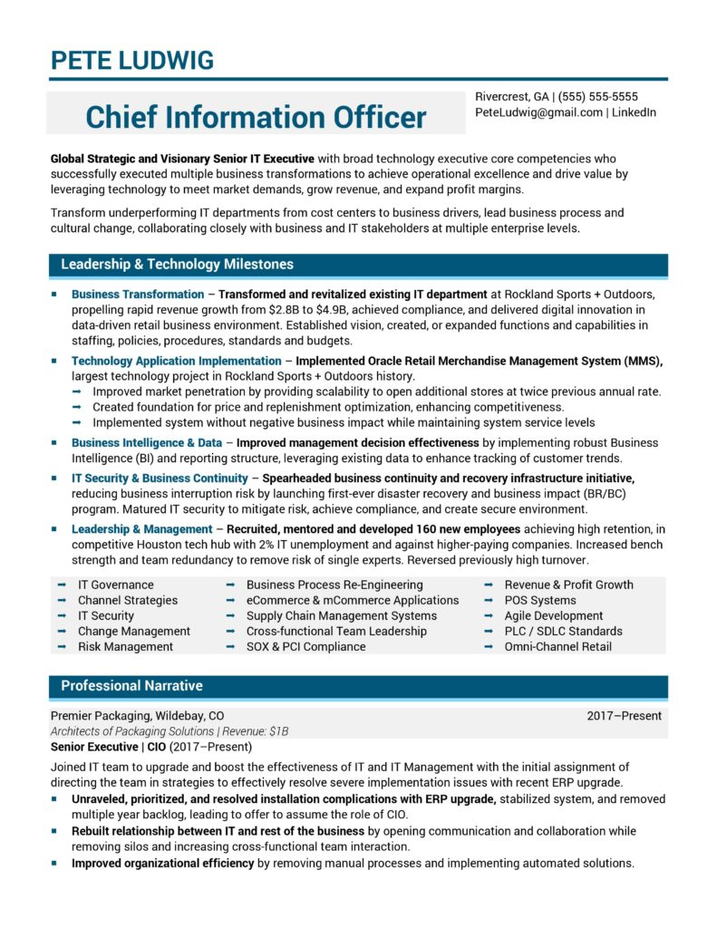 resume samples chief development officer information sample 791x1024 multiple positions Resume Chief Development Officer Resume