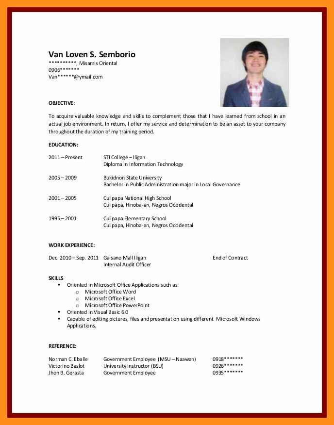 resume samples for college student lovely cv students with no experience job examples Resume Sample Resume For 13 Years Experience