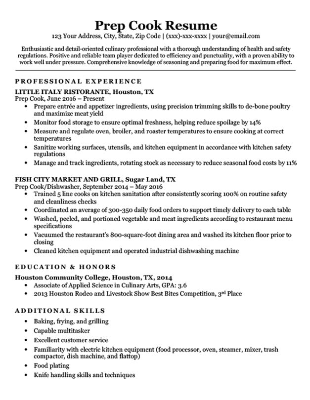 resume samples format responsibilities for help making role of substitute teacher Resume Cook Responsibilities For Resume