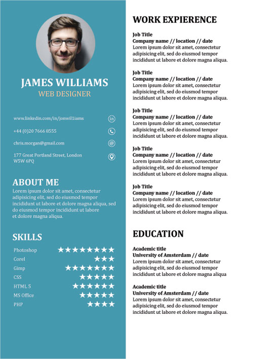 resume template creative cv word free libreoffice financial planning and analysis summary Resume Libreoffice Resume Template