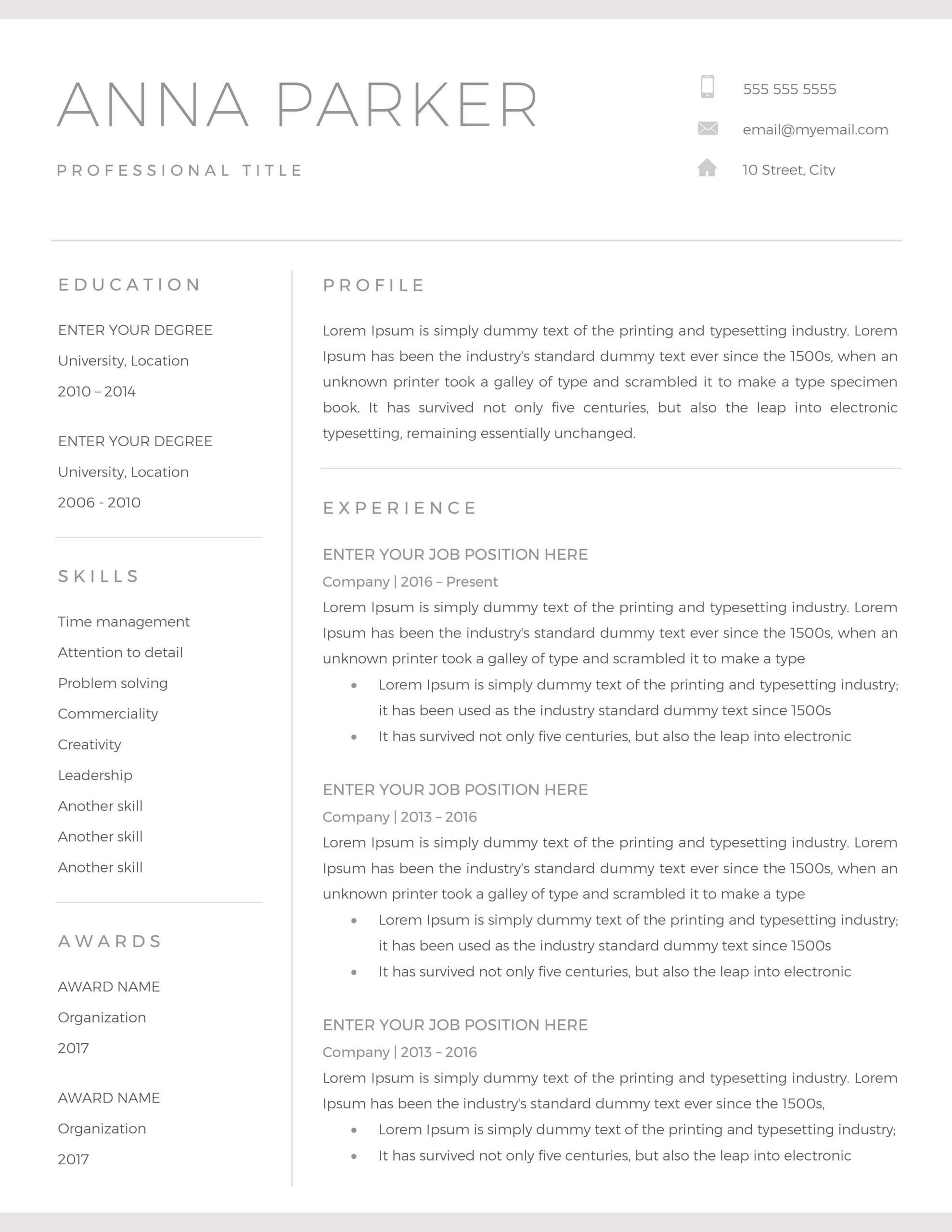 resume template cv word microsoft downloadable another for knowledge on confidential Resume Another Word For Knowledge On Resume