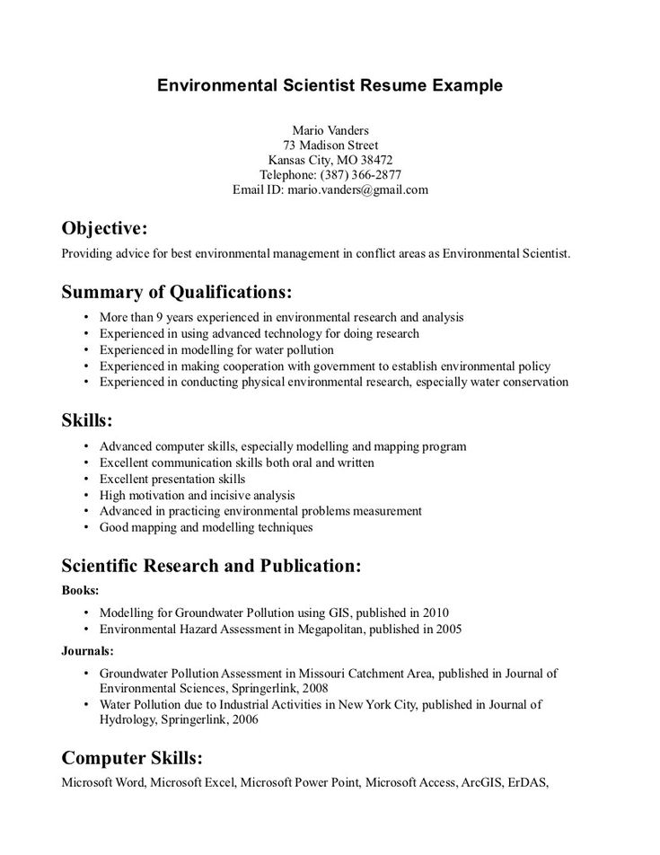 resume template environmental consultant science examples sin experiencia laboral blaster Resume Environmental Consultant Resume