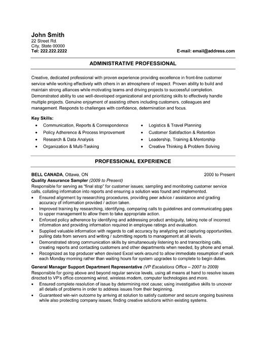 resume template for an administrative professional you can assistant free email body Resume Administrative Professional Resume