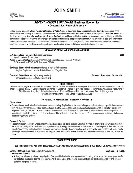 resume template for financial analyst you can it and make your own job examples entry Resume Resume Objective For Economics Graduate