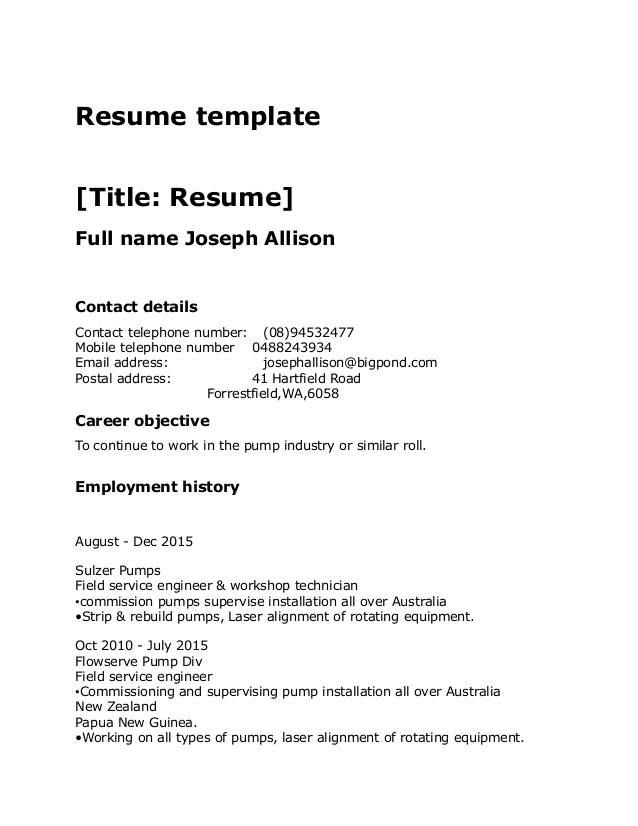 resume template standard contact details on critique your functional for warehouse worker Resume Contact Details On Resume