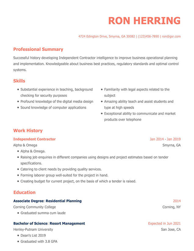 resume templates edit in minutes current format modern operations analyst objective Resume Current Resume Format 2020