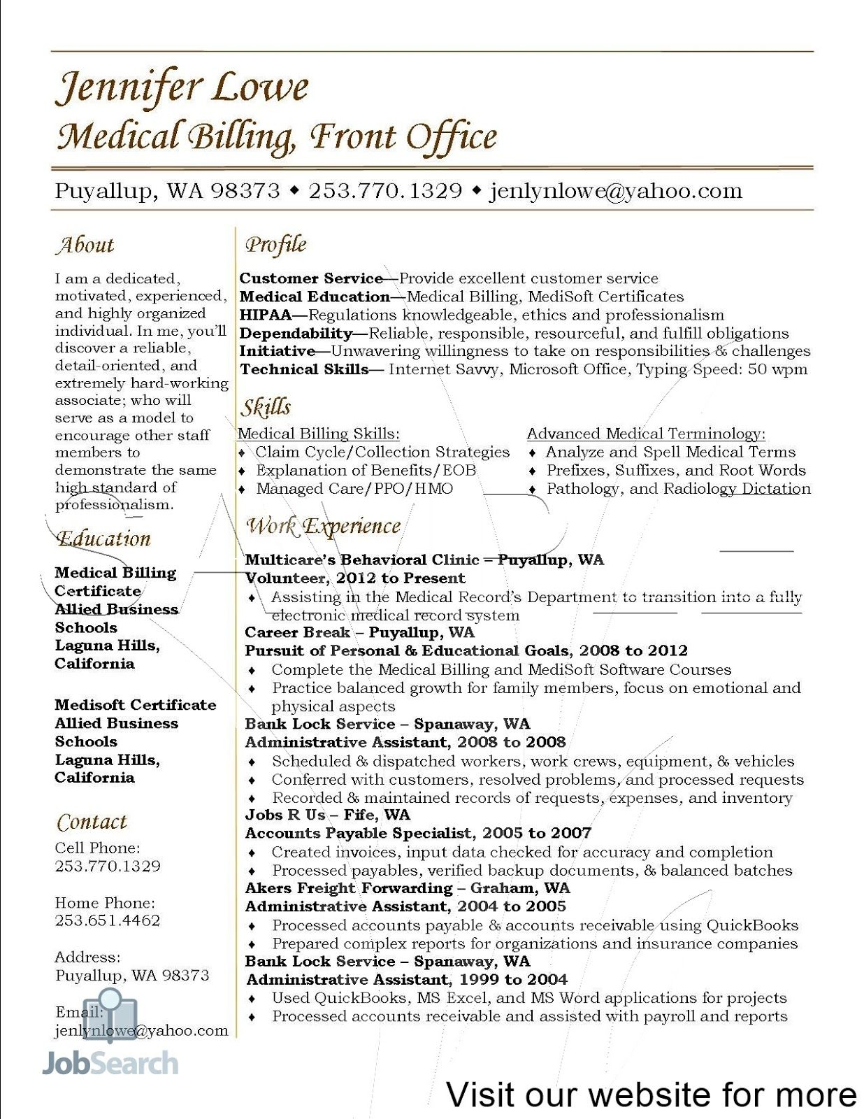 resume templates medical fresher billing and coding assistant objective for post silicon Resume Objective For Medical Coding Resume