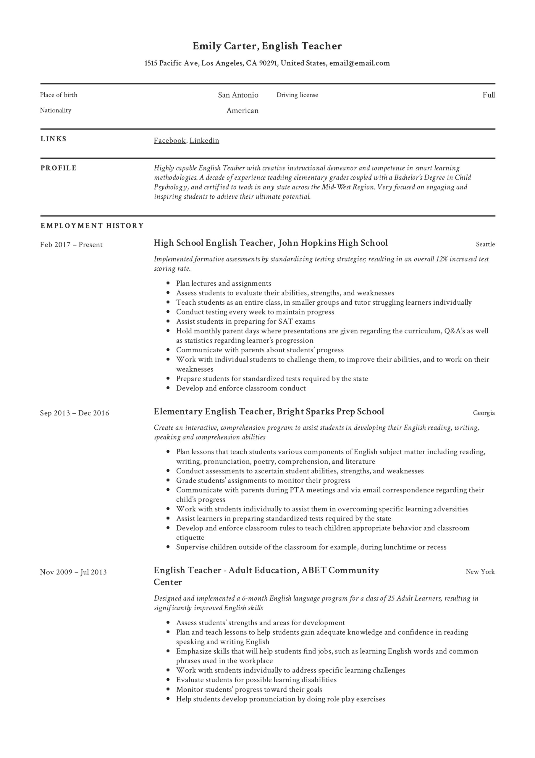 resume templates pdf word free downloads and guides professional examples template Resume Professional Resume Examples 2020
