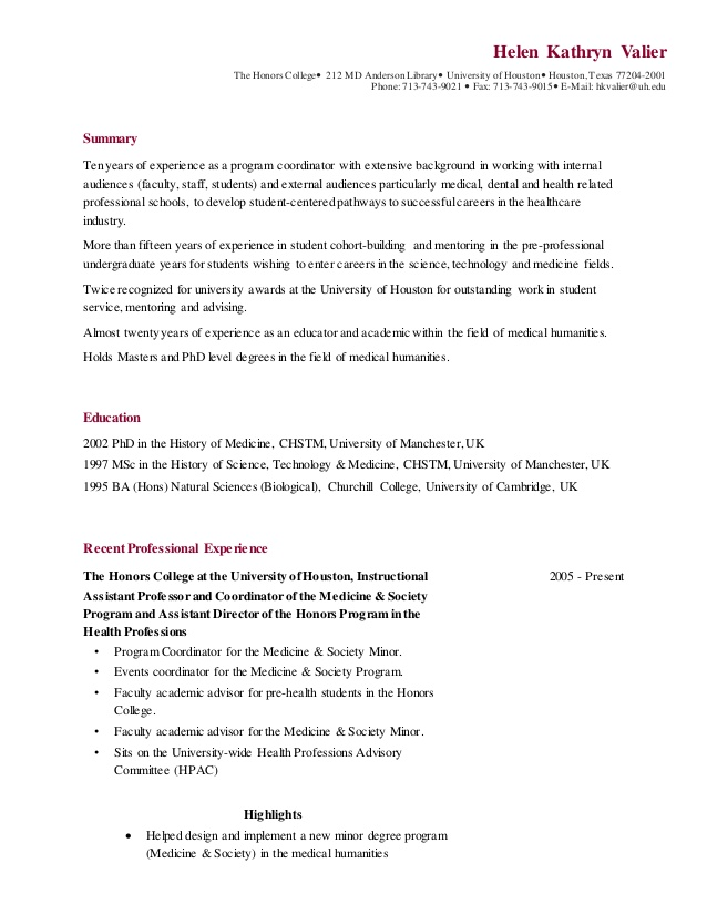 resume valier for honors college retail supervisor experience format one year elegant Resume Resume For Honors College