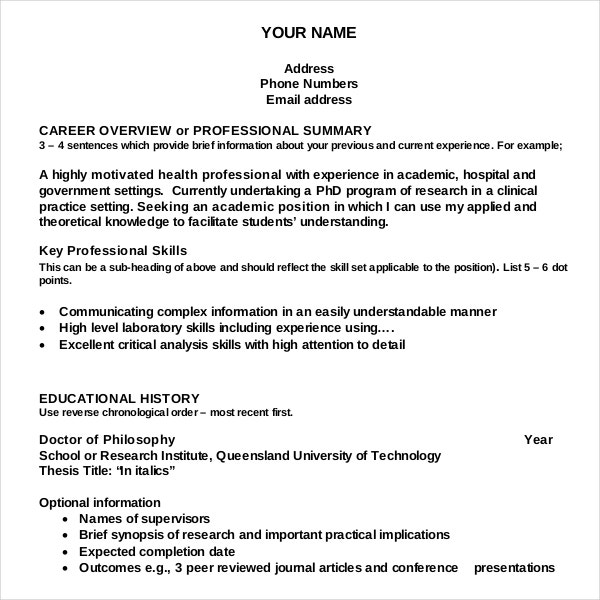 resume writing templates samples pdf free premium sample academic template for document Resume Free Sample Resume Writing
