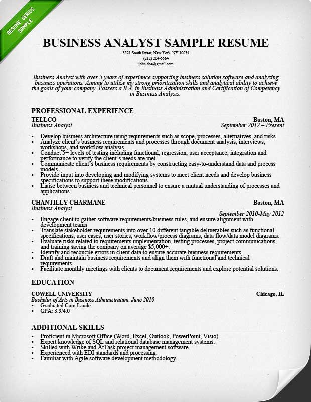 resumes for business analyst news resume example sample image words customer service Resume Business Resume Example