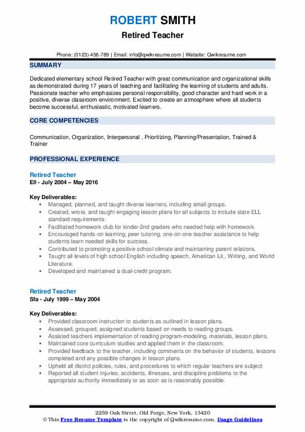 retired teacher resume samples qwikresume transition out of teaching pdf for server Resume Transition Out Of Teaching Resume