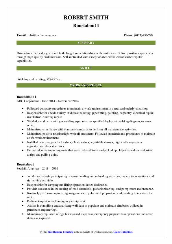 roustabout resume samples qwikresume model pdf farmers market good simple student Resume Roustabout Resume Model