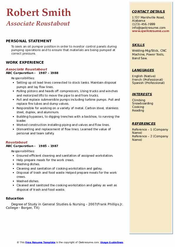 roustabout resume samples qwikresume model pdf lms administrator objective for business Resume Roustabout Resume Model