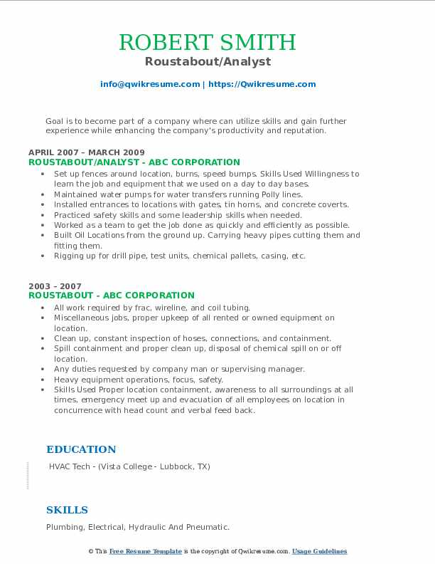 roustabout resume samples qwikresume model pdf sample for data management high school Resume Roustabout Resume Model