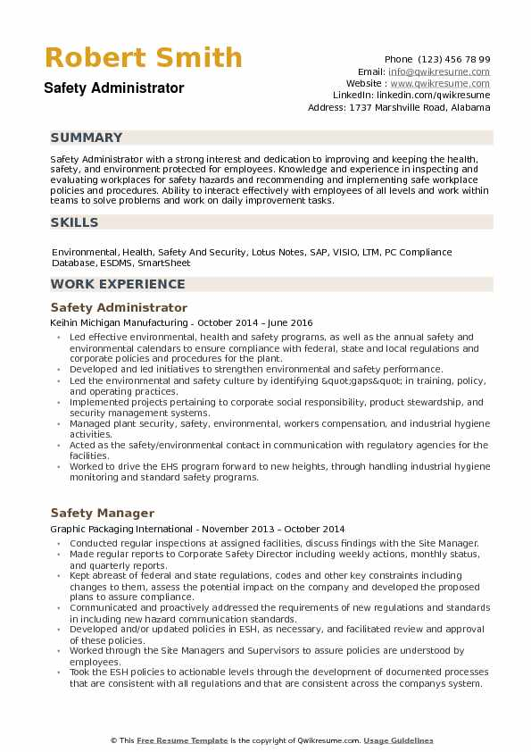safety administrator resume samples qwikresume experience pdf physician sample template Resume Safety Experience Resume