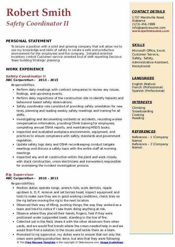 safety coordinator resume samples qwikresume pdf business analyst professional examples Resume Safety Coordinator Resume
